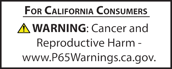 Prop 65 Warning Image